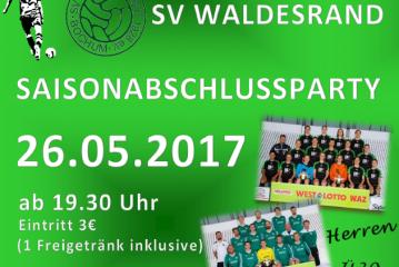 Saisonabschlussparty am 26.05.2017