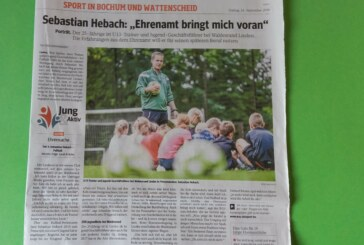 """Sebastian Hebach: """"Ehrenamt bringt mich voran"""""""