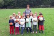 Training mit den Maxi-Kindern der KiTa St. Angela