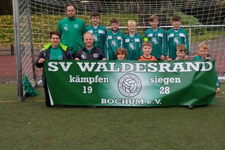 Fan-Banner für die D1-Junioren
